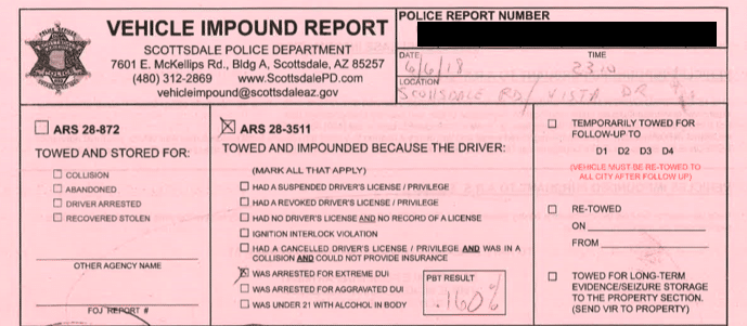 Vehicle Towing Information