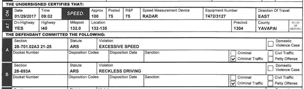 Seligman Justice Court Excessive Reckless Speed 100 75 Redig 1 1024x300 1 2, R&R Law Group